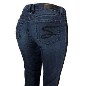 """SEVEN7 """"Legging"""" Jeans! Dark Wash/Black Sides. 8"""